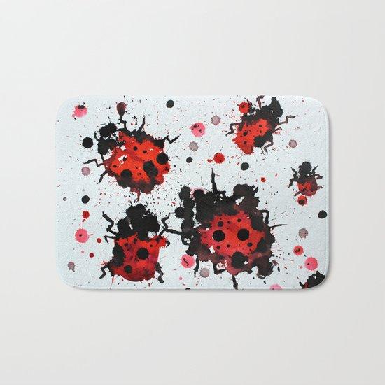 Splattered bugs Bath Mat
