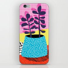 Shibby - neon 80's throwback potted plant indoor garden pink yellow red grid memphis los angeles pal iPhone & iPod Skin