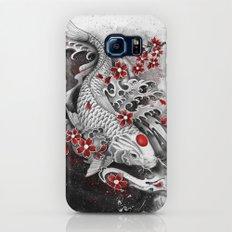 White Koi and sakuras Slim Case Galaxy S6