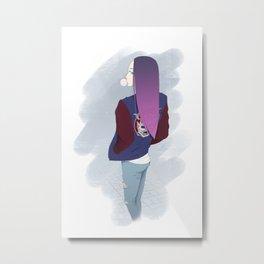 Gum girl Metal Print