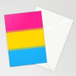 pixel pride- pansexual pride flag Stationery Cards