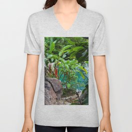 Dreamy Garden Views Unisex V-Neck