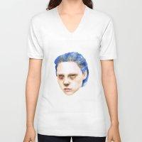 emma stone V-neck T-shirts featuring Emma by Jethro Lacson