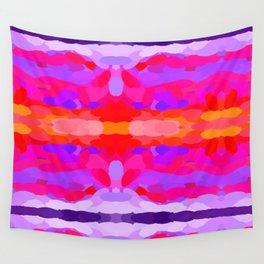 Purple, pink and orange tie dye Wall Tapestry