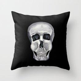 Black White & Skull Throw Pillow