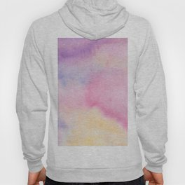 Abstract artistic hand painted pink lavender watercolor Hoody