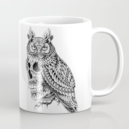 Great Horned Skull Mug