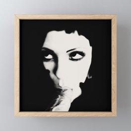 Suck Framed Mini Art Print