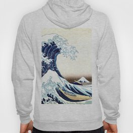 The Great Wave off KanagawA muted Hoody