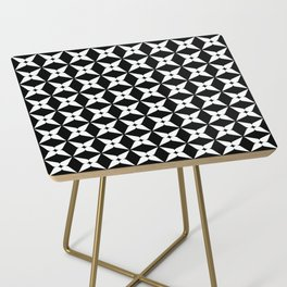 Geometric Pattern 247 (white crosses) Side Table