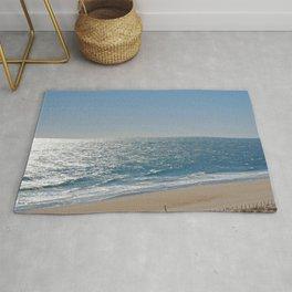 Ocean Solitude, Atlantic Ocean, Morning Beach, Rug
