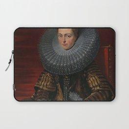 Tudor Lady in large Ruff collar Laptop Sleeve
