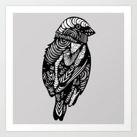 sparrow Art Prints featuring Sparrow by amyrose