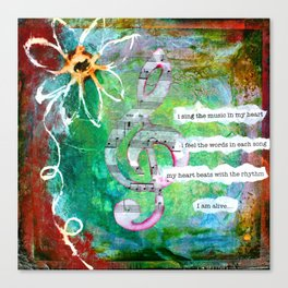 Sing the Music Canvas Print