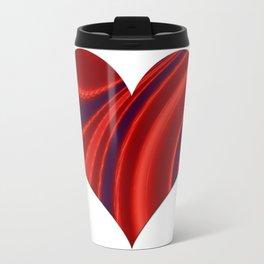 Fractal Big Heart Travel Mug