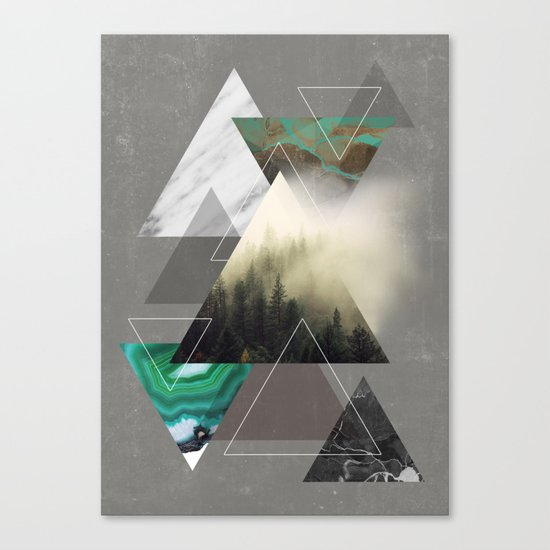 Triangles Symphony Canvas Print