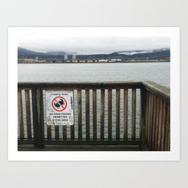 No Crabbing Sign Art Print