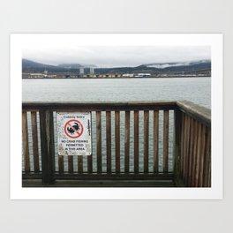 No Crabbing Sign Art Print