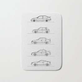 GROUP A RALLY CARS Bath Mat