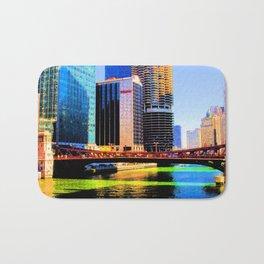 Clark St. Bridge, Chicago (Pop) Bath Mat