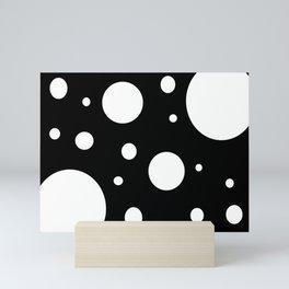 Dots black and white Mini Art Print