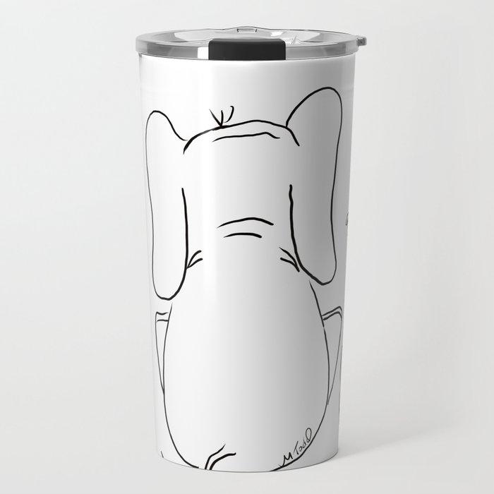 Cat, elephant, and dog friendship trio Travel Mug