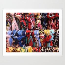 Colorful Scarves Pattern Art Print