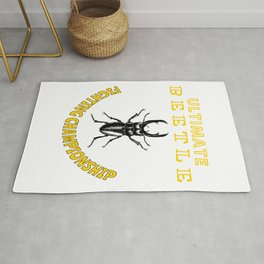 Ultimate Beetle Fighting Championships Insect Fighting Hercules Rhinoceros Pet Matches Rug