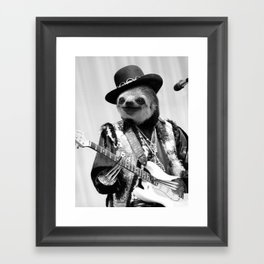 Rockstar Sloth #2 Framed Art Print