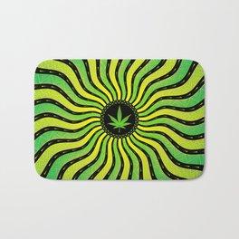 Marijuana energy | Sacred geometry mandala Bath Mat