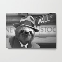 The Sloth of Wall Street Metal Print