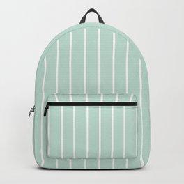 White Stripe + Blue Backpack