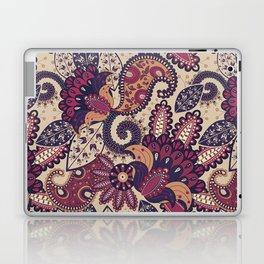 Maroon Boho Paisley & Floral Pattern Laptop & iPad Skin