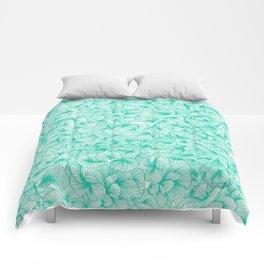 Knee-Deep in Turquoise Ink Comforters