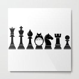 Chess Anime Character Metal Print