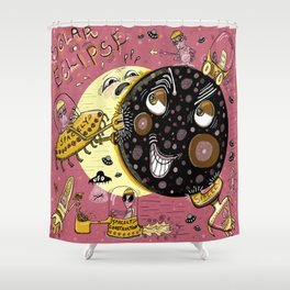 This is how solar eclipses really happen Shower Curtain