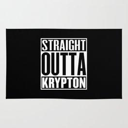 Straight Outta Krypton Rug