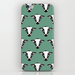 Cute Cow Face pattern iPhone Skin