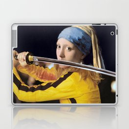 Beatrix Kiddo and Vermeer's Girl with a Pearl Earring Laptop & iPad Skin