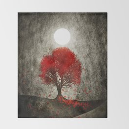 Red autumn. Throw Blanket