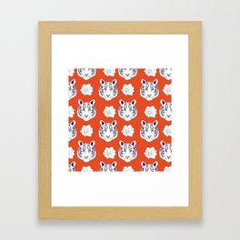 Auburn orange Framed Art Print