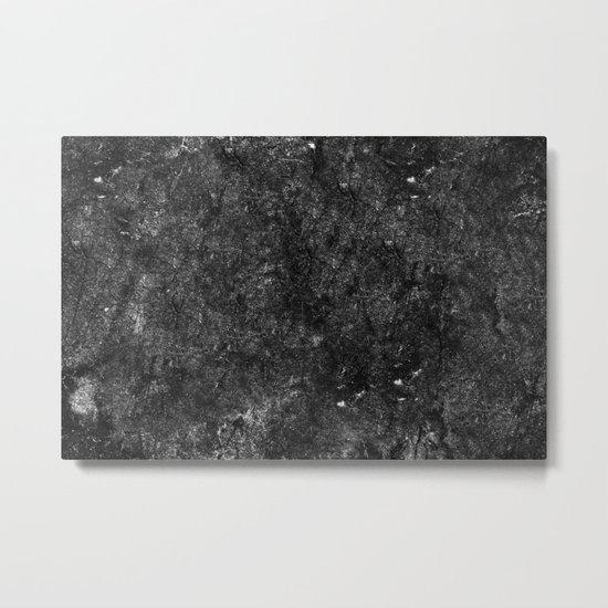 Starry Black Marble Metal Print
