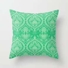 Simple Ogee Green Throw Pillow