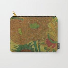 Van Gogh, sunflowers 2 – Van Gogh,Vincent Van Gogh,impressionist,post-impressionism,brushwork,paint Carry-All Pouch