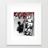 saga Framed Art Prints featuring Rocky Saga by The Black Lodge