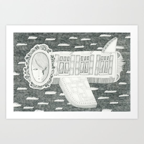 Plane is Home Art Print