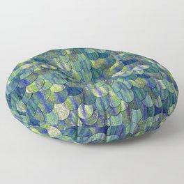 Magical Mermaid Bright Scales Floor Pillow