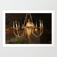 the interesting chandelier  Art Print