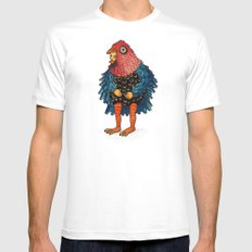 El pájaro MEDIUM White Mens Fitted Tee