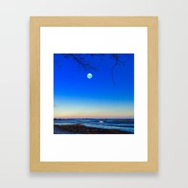 Cold Moon Framed Art Print